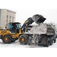 Сброс снега с крыш, чистка снега спецтехникой