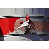Покраска фасадов и металлоконструкций методом промышленного альпинизма