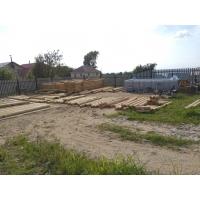 Строительство деревянной бани из оцилиндрованного профилированного бревна