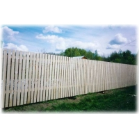Забор из дерева сплошной