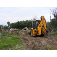 Расчистка участка от деревьев, под строительство