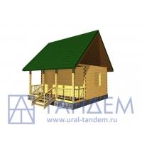 Дом деревянный 6х6 Площадь - 31 кв.м. из простого бруса