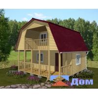Дом 48м (6х6;4х6)с балконом + терраса 12м