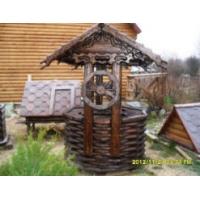 Домики для колодцев фото резных колодезных домиков