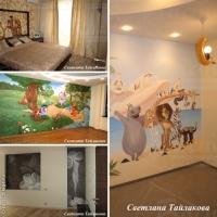 Декорирование интерьера росписью