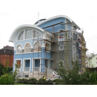 Монтаж мокрых фасадов
