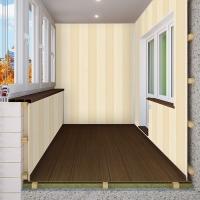 Внутренняя обшивка, утепление балкона