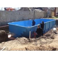 Установка композитного бассейна под ключ