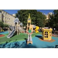 Резиновое, Каучуковое покрытие для детских и спортивных площадок