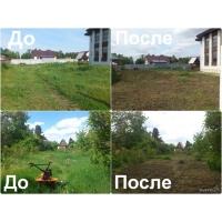 Услуги газонокосильщика (уборка / покос травы / вспашка земли / спил деревьев)