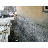 Устройство и гидроизоляция фундамента дома. Ремонт отмоски многоквартирного дома
