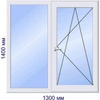 Пластиковое окно Proplex поворотно-откидное 1400*1300