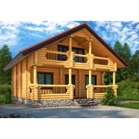Строительство домов и бань из оцилиндрованного бревна и профилированного бруса под ключ