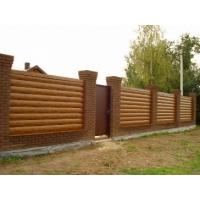Забор из панелей блок хаус