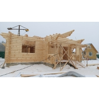 Проект дома из оцилиндрованных бревен №279