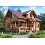 Строим теплые жилые дома для суровой зимы (дома из оцилиндрованного бревна)   Воронеж