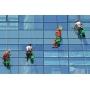 Клининговые работы на фасадах. (мойка фасада, остекления)   Саратов