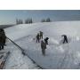 Чистка снега с кровли   Москва