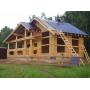 Строим дома из оцилиндрованного бревна свое производство   Москва