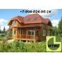 Строительство деревянных брусовых домов, бань из строганного профилированного бруса. Крыши   Красноярск