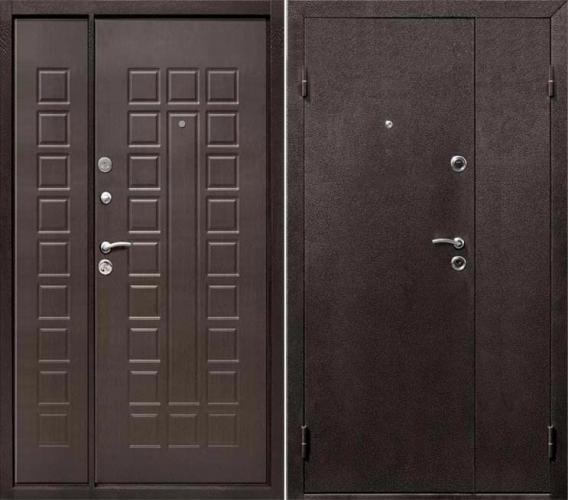 дверь металлическая двухстворчатая 1200х2050