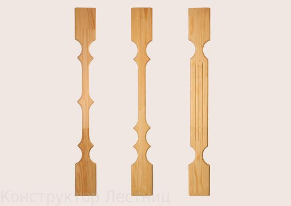Балясины деревянные плоские своими руками