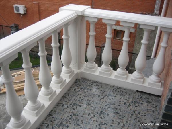 Как сделать балясины бетонные
