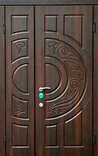 двухстворчатые металлические двери в с