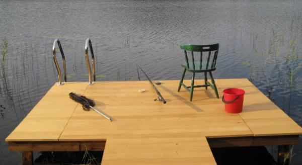 Мостик для рыбалки сделать своими руками