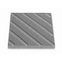 Тротуарная тактильная плитка ТП диагональные рифы 40х40х5 серая