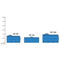 горизонтальная емкость на 1000 литров Экопром Н 1000