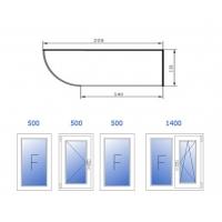 Теплое остекление (пластик, 4 окна: 500, 500, 500, 1400) Rehau