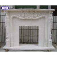 China White Marble Mantel Hnamgmao HMI-MF008