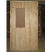 Дверной блок наружный с деревянной профилированной рейкой ГОСТ