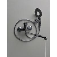 Смеситель в ванную с  нажимным дивектором на корпусе БРИМИКС 3506-1