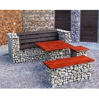 Садово-парковая мебель из габионов
