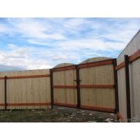 Забор из профлиста и дерева