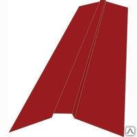 Планка конька плоского для металлочерепицы 150х150х2000 мм СПК