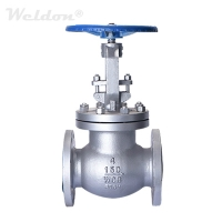 4 Inch Globe Valve, ASTM A216 WCB, Class 150 LB, RF Flanged Ends