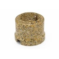 Фарфоровая ретро розетка с заземляющим контактом, золотой гранит BIRONI В1-101-01/GG