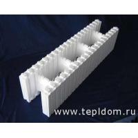 Блок стеновой основной, несъемная опалубка Теплый Дом БСО-С М20