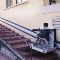 Инвалидный подъемник лестничный вертикальный