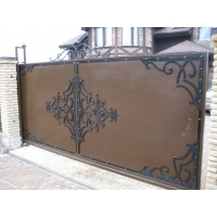 Откатные ворота с элементами горячей ковки Аверс-Гейт