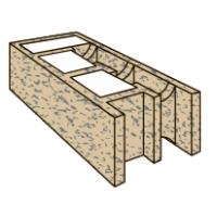 Стеновой строительный Блок Бризолит 2У (угловой)