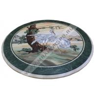 Журавли - мраморный стол ручной работы Мрамор Спб