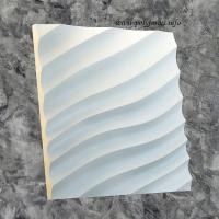 Гипсовая 3D панель - Волна диагональная мелкая