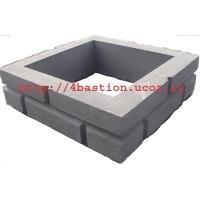 Бетонные заборы, бетонные заборные блоки  Кирпич 4ый БАСТИОН СКАЛА