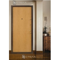 Двери входные металлические с отделкой ЛДСП  «ЭКОНОМ»