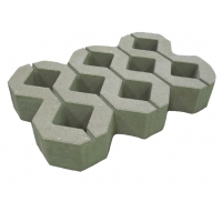 Газонная решетка бетонная  цвет серый