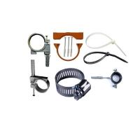 Хомуты: стальной с резиновой прокладкой и без (КТР), нейлоновый  (стяжка), червячный, пластиковый